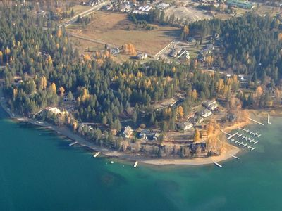 Bird's Eye View of Condo Site on Whitefish Lake Showing Marina and Day Docks
