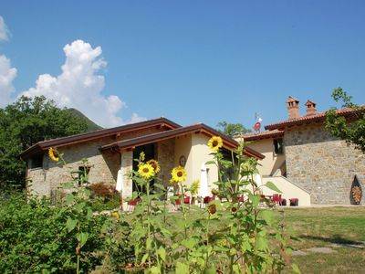 Photo for Former farmhouse in the Apennines, private swimming pool, near the ski slopes.
