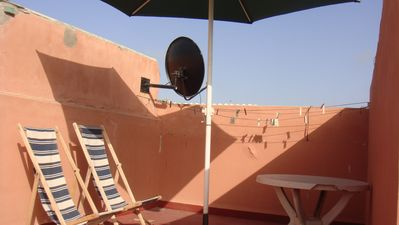 Photo for APARTMENT QUIET, CLEAN, PRIVATE TERRACE FREE WIFI NEAR THE BEACH AND MEDINA