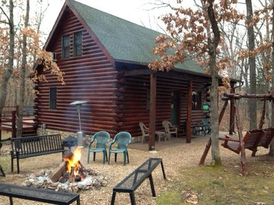 Welcome to our log cabin.