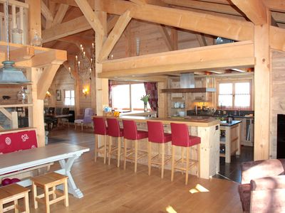 Photo for Exceptional chalet - superb Mont-Blanc view - Dominant location without vis-à-vis