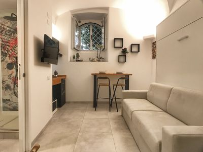 Photo for Cozy studio apartment a few steps from the Vatican Museums.