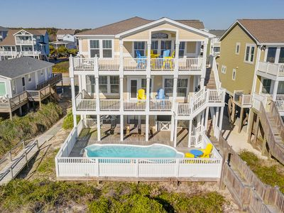Photo for Stunning 6 BR 6 1/2 Bath Oceanfront Home with  Private Pool & Elevator