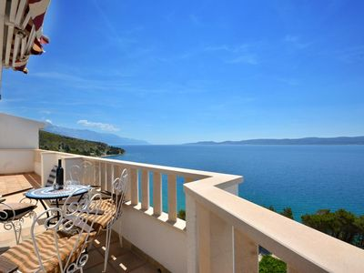 Photo for One bedroom apartment with terrace and sea view Lokva Rogoznica, Omiš (A-13226-c)
