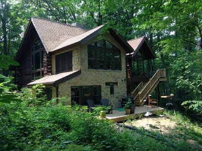 Photo for Gorgeous, Private Hiking/Biking/Winter Retreat in the Woods