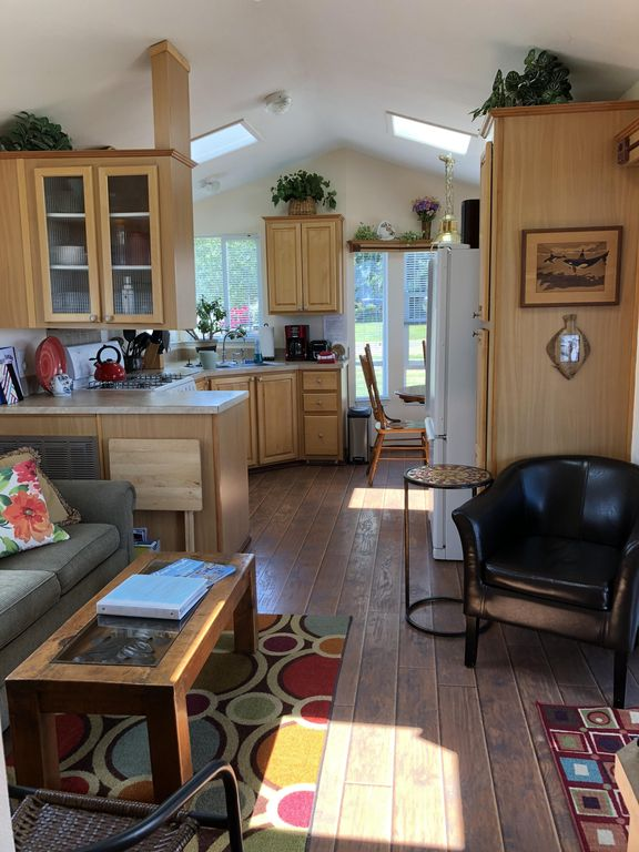 TINY HOUSE WITH GIANT VIEW, AWESOME DECK AND GAS FIRE PIT