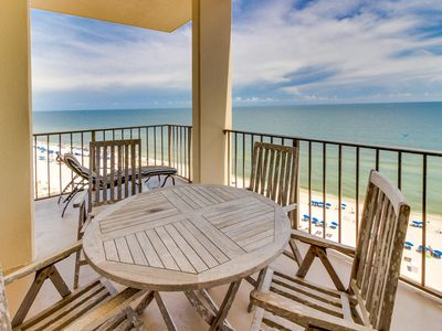 Photo for NEW LISTING! Waterfront penthouse on the Gulf w/ shared pool, hot tub, & sauna