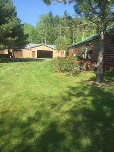 Photo for Cozy cabin with garage on 40 acres near Lake Winnie