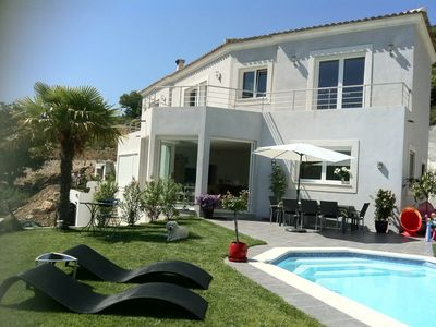 Photo for Beautiful House - sea view. Pool - Fitness. Near Principality of M