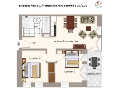 Photo for laas2-02 Apartment Villa Anna See 2-02 - Apartment Villa Anna See 2-02