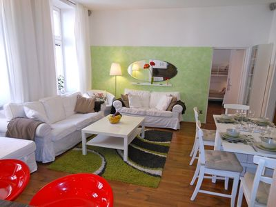 Spacious Living Room with Dining Area for 8 persons