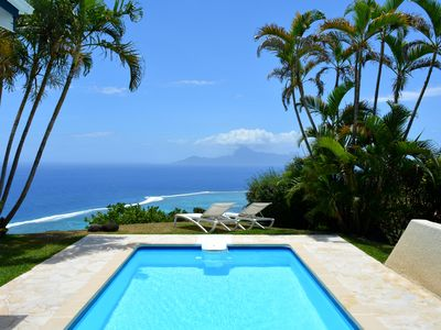 Photo for Villa Tiare - Tahiti - breathtaking view, pool & garden - up to 7 pers