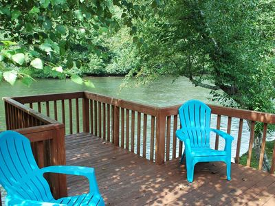 Photo for The River's Edge Cabin, 2 King Beds. Cast your cares away down river! Wifi