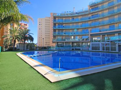 Photo for Modern Borumbot apartment with pool and air conditioning, central and close to the beach in Calpe