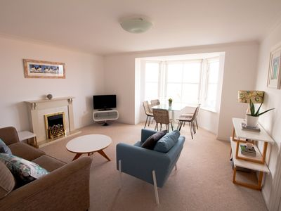 Photo for Rockpool View is a sunny seaside apartment in the picturesque town of Dunbar.