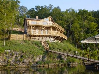 Photo for Exquisite & Immaculate Lakefront Log Home