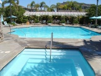 Our community pool and spa. It is only 6 doors down the street, but no noise.