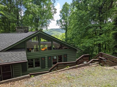 "Photo for ""Owl Cove"" Sleeps 6, Long range views, Pet Friendly, Pool, hike, fish, camp!"