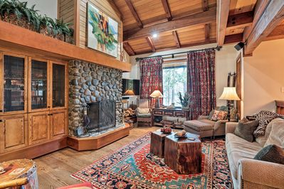 Map out your Lake Tahoe retreat to this nostalgic 4-bedroom, 3.5-bath residence!
