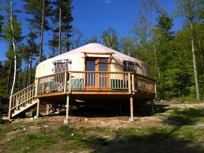 Photo for An Adventure of a Lifetime - Modern Adirondack Yurt/Cabin on 15 Acres