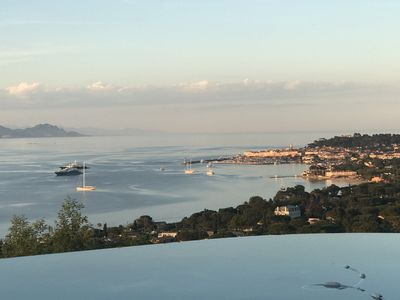 Photo for VILLA SWIMMING POOL AND EXCEPTIONAL SEA VIEW ON THE GULF OF SAINT-TROPEZ