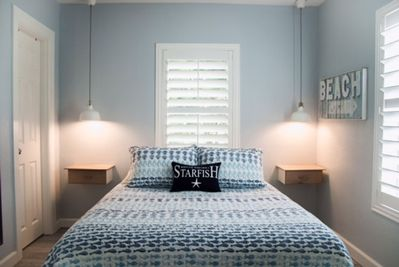 Queen Size private bedroom with direct access to bath.  Plenty of storage, too!