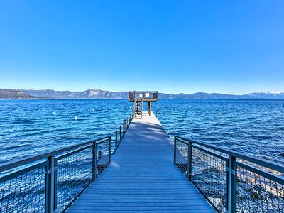 Photo for TAHOE PERFECTED! WALK TO PRIVATE PIER/BEACH-HIKING/BIKING OUT THE BACKDOOR!