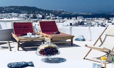 Photo for Mykonos Town Panorama with Private Terrace