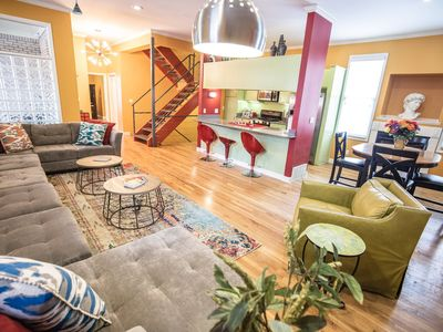 Photo for Beale 2 blocks: 3400 SqFt, 11 beds, 2car-garage, rooftop deck, trolley in front