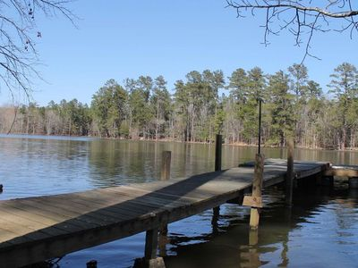 Photo for Secluded, waterfront home w/ a large yard, private dock, & water access!