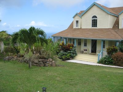 Gingerland Hill Vacation Home Nevis with Pool & Views of Mountain and Ocean.