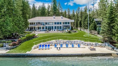 Photo for Villa Z at Sandpoint., Estate, Waterfront, Beach, Kayaks. Magnificent!