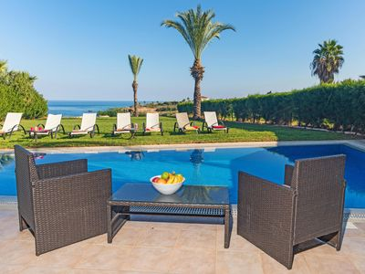 Photo for Beach Front Villa With  Pool. Ideal for families. Plenty of Privacy.