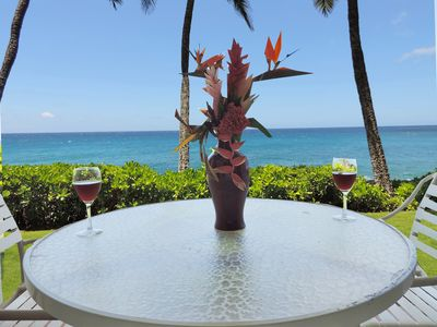 Photo for Stunning Poipu Shores 103A, 2/2, dramatic oceanfront w/2 wall mounted a/c's