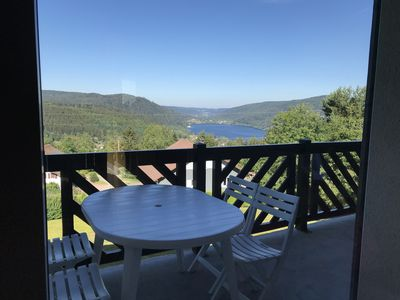 Photo for Duplex at the foot of the slopes of La Mauselaine with breathtaking views of the lake