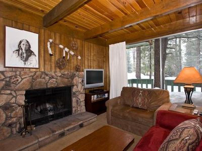 Photo for Hunkpapa - Cozy Tahoe Cabin with Massive Windows Pool Table Room and Wood Fireplace!