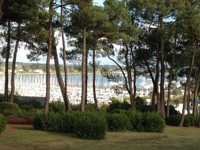 Photo for VERY PRETTY VIEW ON THE PORT, QUIET, NEAR VILLAGE AND BEACH, RESIDENCE WITH
