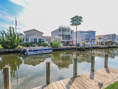 Photo for S112B: South Bethany 6 BR Home - Canalfront w/Boat Dock! - Walk to Beach