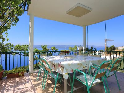 Photo for Comfortable and spacious apartment with terrace and sea view Marušići, Omiš (A-18323-a)