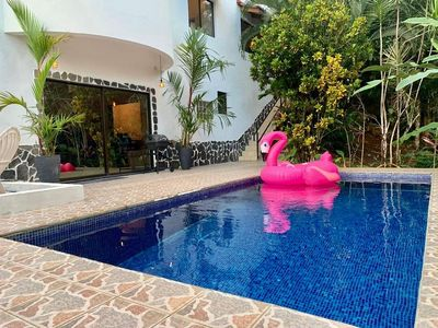 Photo for Nice private villa with big garden and pool,close from center Quepos and Marina.