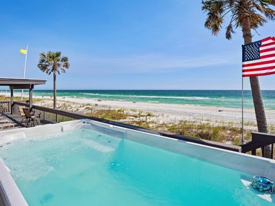 Photo for Golden Beach House - Beachfront SwimSpa & 67 Foot Party Deck!