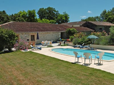 Photo for 2 bedroom 2 bathroom traditional Quercy stone barn