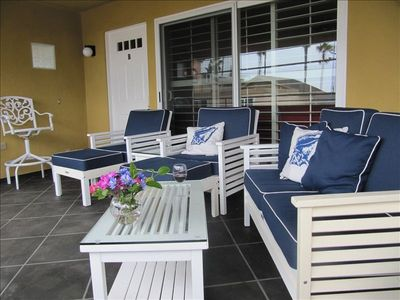 Photo for OCEAN VIEW!! Walk to the beach, pier, village and marina!  5 star comfort!