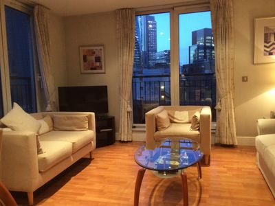 Photo for Bright Spacious Flat with Balconies 150m from Tower of London