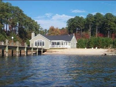 Photo for 6.5 Acre Waterfront Family Retreat with Pool and Sandy Beach!
