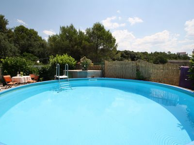 Photo for This 2-bedroom villa for up to 5 guests is located in Brodarica and has a private swimming pool and