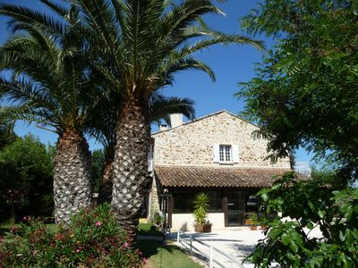 Photo for Renovated studio 1km from the sea, facing the natural park, terrace, private parking, wifi