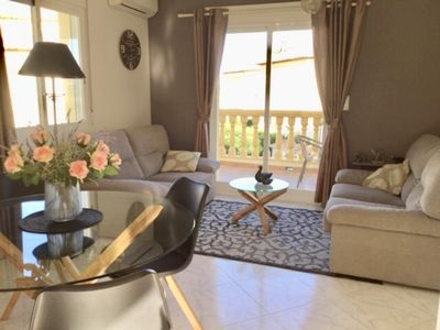 Photo for Nice apartment only 3 minutes walk to the sea and sandy beach