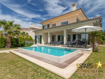 Photo for Modern villa for 8 people with private pool, near Bacares beach