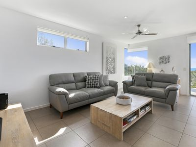 Comfortable living area with TV